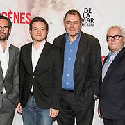NLD/Amsterdam/20140428 - Perspresentatie cast Bedscenes, Guy Clemens, Peter Bolhuis, Dick van den Toorn, Xander van Vledder
