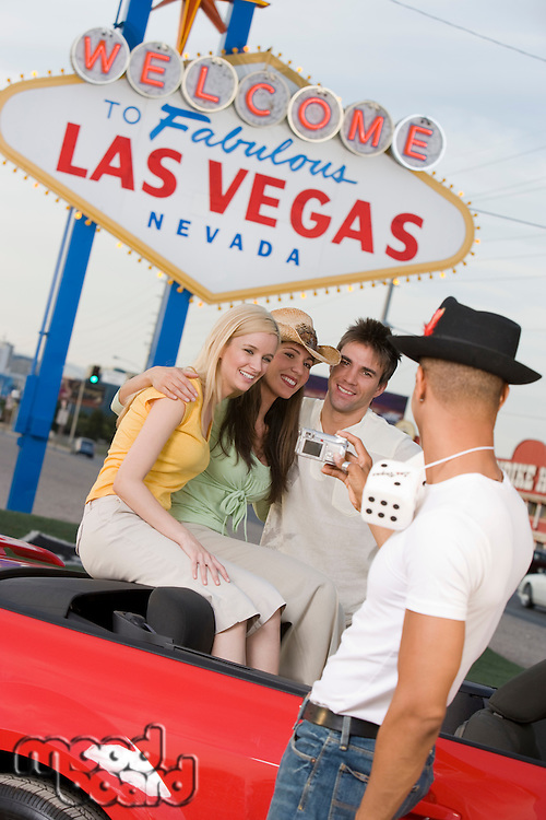 Couples having fun in Las Vegas, Nevada, USA