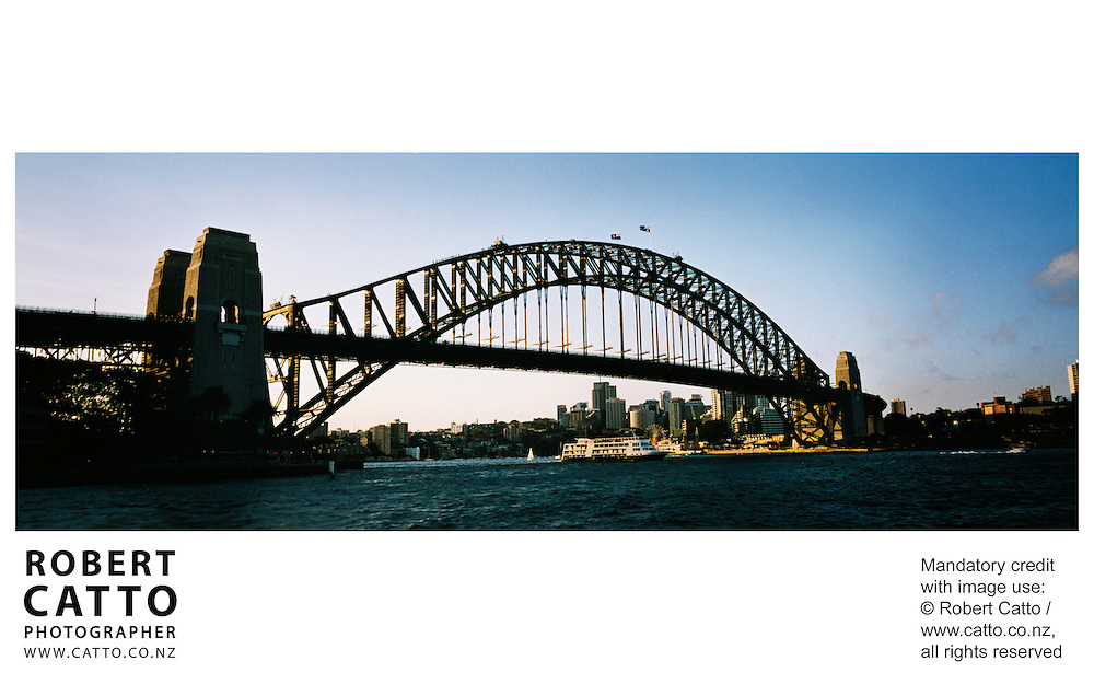 Sydney Harbour Bridge at Sydney Harbour, Sydney, New South Wales (NSW), Australia.