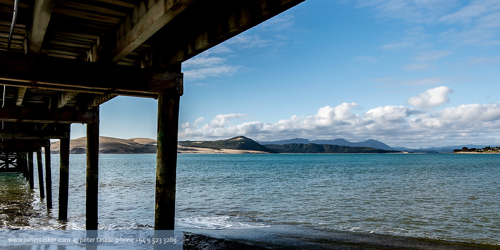 Omapere wharf, Hokianga harbour, Northland, New Zealand