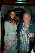 CATHERINE BAILEY; DAVID BAILEY, Richard Prince opening at the Serpentine gallery and afterwards at Annabels. London. 25 June 2008 *** Local Caption *** -DO NOT ARCHIVE-© Copyright Photograph by Dafydd Jones. 248 Clapham Rd. London SW9 0PZ. Tel 0207 820 0771. www.dafjones.com.