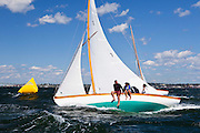 Firefly, Alan and Cory Silken's winner of the Herreshoff S Class at the Museum of Yachting Classic Yacht Regatta. With this win, the Silkens take first place in the Narragansett Bay Herreshoff S Class 2010 racing season.