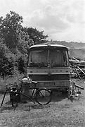 Jed's bus, at Glastonbury, 1989.