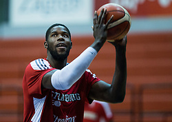 Mouhammadou Jaiteh of SIG Strassbourg at warming up prior to the basketball match between KK Cibona Zagreb (CRO) and SIG Strasbourg in Round #6 of FIBA Champions League 2016/17, on November 23, 2016 in Drazen Petrovic Basketball center, Zagreb, Croatia. Photo by Vid Ponikvar / Sportida