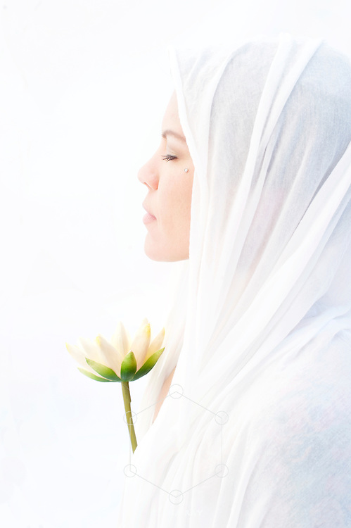 Sacred Feminine in meditation.