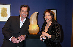 ANDREW GRANT and artist ALY BROWN at a private view sculptures, drawings and Maquettes by Aly Brown held at Lucy B Campbell Fine Art, 123 Kensington Church Street, London W8 on 22nd November 2005.<br />