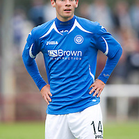 St Johnstone FC....Season 2011-12<br /> Kevin Moon<br /> Picture by Graeme Hart.<br /> Copyright Perthshire Picture Agency<br /> Tel: 01738 623350  Mobile: 07990 594431