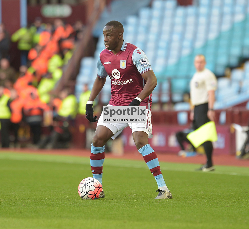 Aston Villa midfielder Aly Cissokho on the ball in the FA cup 4th Round game between Aston Villa and Manchester City<br /> <br /> <br /> <br /> <br /> (c) John Baguley | SportPix.org.uk