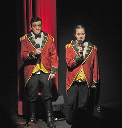 Narrators Ant &amp; Dec Ben Allen and Rebecca Walsh from Prince Handsome Panto production last week.<br />