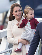 VICTORIA- BC- CANADA- 1st OCT-2016 <br /> Prince William, the Duke of Cambridge and Princess Catherine, the Duchess of Cambridge accompanied by Prince George and Princess Charlotte depart from Victoria Harbour by Sea Plane to Vancouver and from there back to the UK on their last day of their Official Tour of Canada.<br /> ©Exclusivepix Media