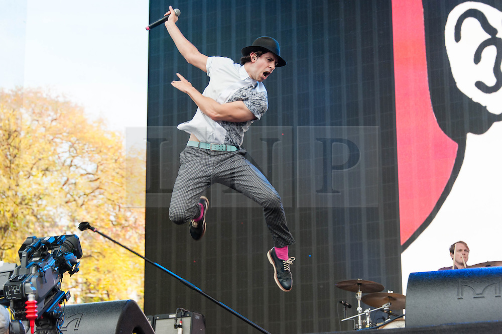 © Licensed to London News Pictures. 05/07/2014. London, UK.   Maximo Park performing live at Hyde Park  as part of the Barclaycard British Summer Time series of music events held at Hyde Park this summer.   Photo credit : Richard Isaac/LNP