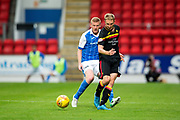 Partick Thistle midfielder Chris Erskine (#10) plays a back pass during the Betfred Scottish Cup match between St Johnstone and Partick Thistle at McDiarmid Stadium, Perth, Scotland on 8 August 2017. Photo by Craig Doyle.