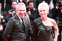 Tonie Marshall and Jean Paul Gaultier at the Saint-laurent gala screening red carpet at the 67th Cannes Film Festival France. Saturday 17th May 2014 in Cannes Film Festival, France.