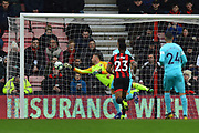Goal - Salomon Rondon (9) of Newcastle United scores a goal to give a 0-1 lead to the away team  during the Premier League match between Bournemouth and Newcastle United at the Vitality Stadium, Bournemouth, England on 16 March 2019.