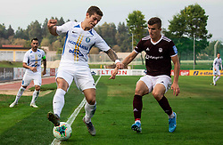 Deni Štraus of Celje vs Egzon Kryeziu of Triglav during football match between NK Triglav and NK Celje in 7th Round of Prva liga Telekom Slovenije 2019/20, on August 25, 2019 in Sports park, Kranj, Slovenia. Photo by Vid Ponikvar / Sportida