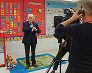 London, United Kingdom - 7 March 2018<br /> EQUINOX PICTURE EXCLUSIVE - Labour Party Shadow Chancellor John McDonnell and Shadow Communities Secretary Andrew Gwynne visiting the Liz Atkinson Children's Centre, Lambeth, London, England, UK, They were visiting the centre to highlight Conservative austerity cuts to children's centres. Europe.www.newspics.com/#!/contact<br /> (photo by: EQUINOXFEATURES.COM)<br /> Picture Data:<br /> Photographer: Equinox Features<br /> Copyright: &copy;2018 Equinox Licensing Ltd. +448700 780000<br /> Contact: Equinox Features<br /> Date Taken: 20180307<br /> Time Taken: 11572487