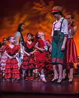 Young students at an Escuela de Baile School Spectacular rehearsal