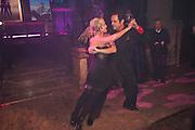 AMANDA ELIASCH DANCING, Amanda Eliasch birthday dinner. North Audley st. London. 12 May 2010. -DO NOT ARCHIVE-© Copyright Photograph by Dafydd Jones. 248 Clapham Rd. London SW9 0PZ. Tel 0207 820 0771. www.dafjones.com.