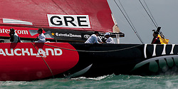 Auckland New Zealand, 31.1.09 Louis Vuitton Pacific Series racing day 2, Geek Challenge win against Soholoza