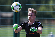 Forest Green Rovers goalkeeper Lewis Thomas during the first day back at training for Forest Green Rovers at the New Lawn, Forest Green, United Kingdom on 2 July 2018. Picture by Shane Healey.