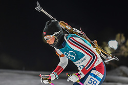 February 12, 2018 - Pyeongchang, Gangwon, South Korea - Ingrid Landmark Tandrevold of Norway  competing at Women's 10km Pursuit, Biathlon, at olympics at Alpensia biathlon stadium, Pyeongchang, South Korea. on February 12, 2018. Ulrik Pedersen/Nurphoto  (Credit Image: © Ulrik Pedersen/NurPhoto via ZUMA Press)