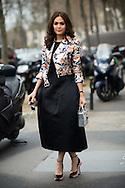 Araya Alberta Hargate at Dior Couture SS2015 - full length