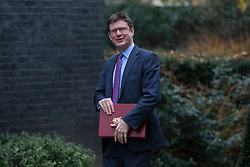 © Licensed to London News Pictures. 09/01/2018. London, UK. Secretary of State for Business, Energy and Industrial Strategy Greg Clark arrives on Downing Street for the first meeting of the Cabinet after Prime Minister Theresa May's reshuffle. Photo credit: Rob Pinney/LNP