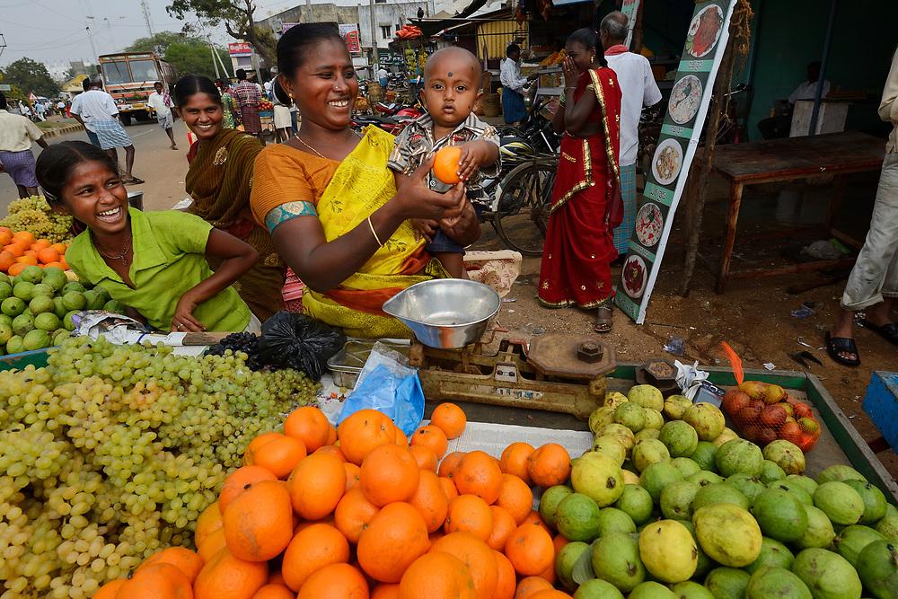 Market life, Pulicat Lake, Tamil Nadu, India