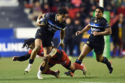 Anthony Watson of Bath Rugby takes on the Toulon defence - Mandatory byline: Patrick Khachfe/JMP - 07966 386802 - 09/12/2017 - RUGBY UNION - Stade Mayol - Toulon, France - Toulon v Bath Rugby - European Rugby Champions Cup
