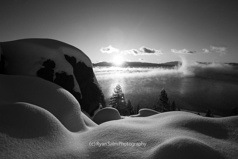 Sunrise and Fresh snow<br /> Lake Tahoe