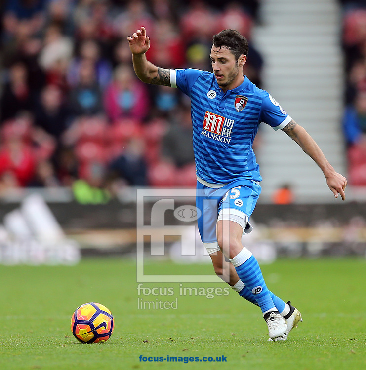 Adam Smith of Bournemouth during the Premier League match at the Riverside Stadium, Middlesbrough<br /> Picture by Simon Moore/Focus Images Ltd 07807 671782<br /> 29/10/2016