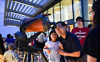 The Hunt Library proved to be a great place for stargazing during the North Carolina Science Festival.