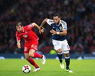 4th September 2017, Hampden Park, Glasgow, Scotland; World Cup Qualification, Group F; Scotland versus Malta; Scotland's Matt Phillips races past Malta's Joseph Zerafa