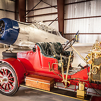 AT-6 Texan and 1907 Renault Racing Roadster, Planes and Cars at the Santa Fe Airport, 2013 Santa Fe Concorso.