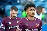 Demetri Mitchell (#11)  of Heart of Midlothian before the Betfred League Cup semi-final match between Heart of Midlothian FC and Celtic FC at the BT Murrayfield Stadium, Edinburgh, Scotland on 28 October 2018.