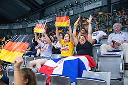 16.07.2015, Porsche-Arena, Stuttgart, GER, FIVB World Grand Prix, Deutschland vs Dominikanische Republik, Damen, im Bild Fans // during the women's FIVB 2015 World Grand Prix match between Germany and Dominican Republic at the Porsche-Arena in Stuttgart, Germany on 2015/07/16. EXPA Pictures © 2015, PhotoCredit: EXPA/ Eibner-Pressefoto/ Wuechner<br /> <br /> *****ATTENTION - OUT of GER*****