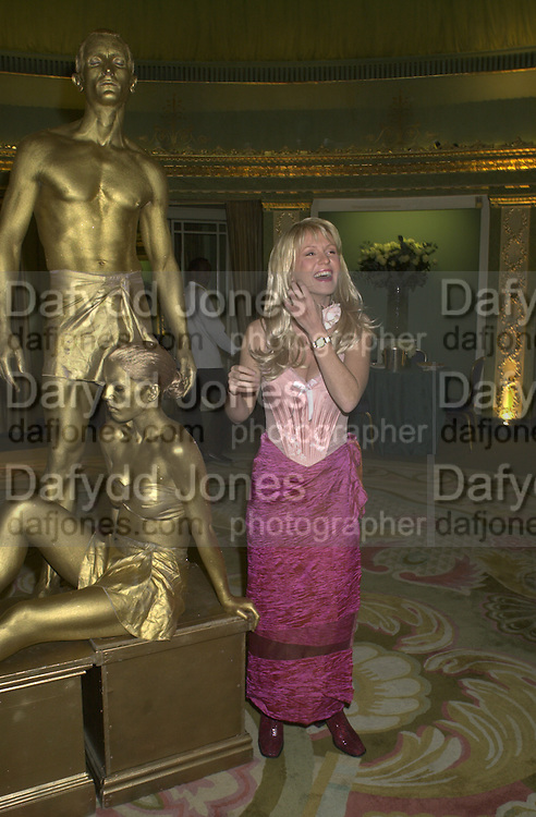 Esther Mcvey. James Bond charity Ball in aid of Baby Lifeline. Dorchester. 30 October 2000.  © Copyright Photograph by Dafydd Jones 66 Stockwell Park Rd. London SW9 0DA Tel 020 7733 0108 www.dafjones.com