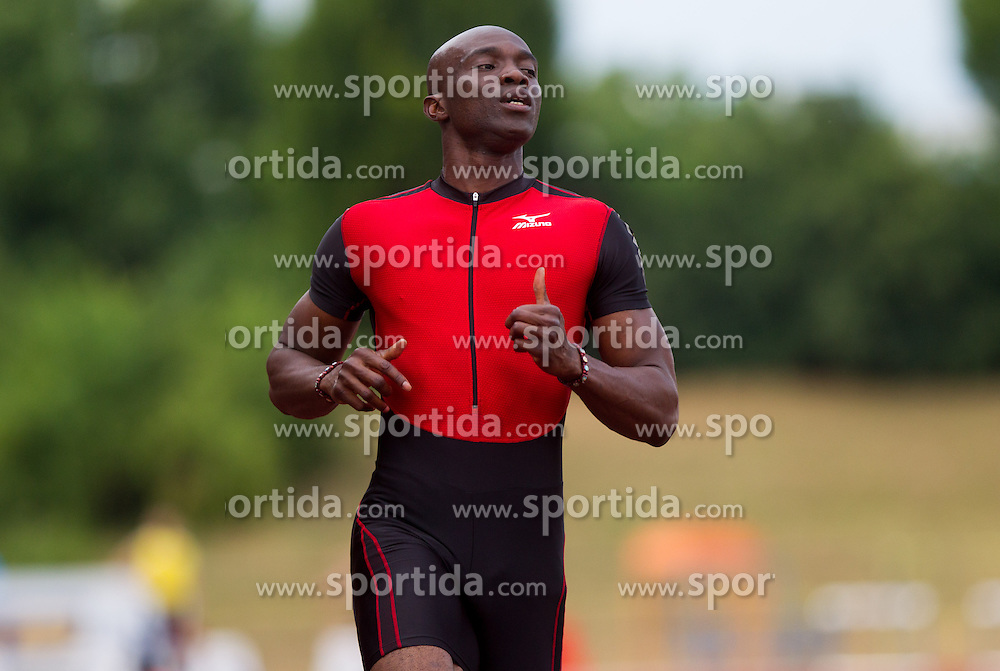 Francis Obiorah Obikwelu of Portugal competing in 100m Men  during athletics competition 8th Memorial of Matic Sustersic and Patrik Cvetan July 13, 2013 in Stadium ZAK, Ljubljana, Slovenia. Maribor defeated Zavrc 2-1. (Photo by Vid Ponikvar / Sportida.com)
