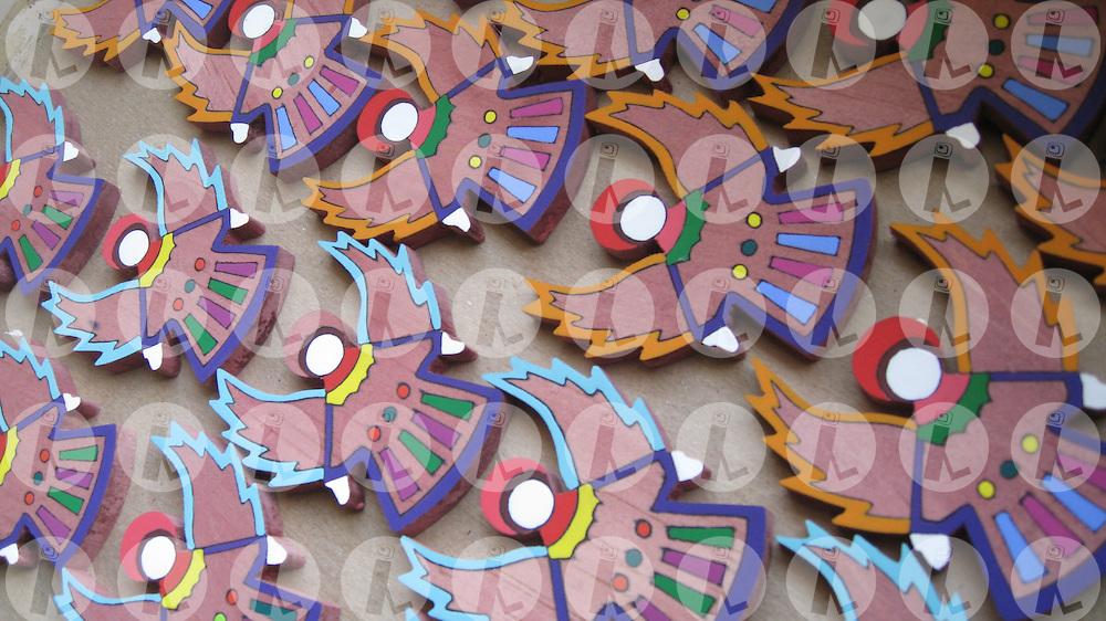 Woodwork in La Palma, Chalatenango, El Salvador..Artesania en madera en La Palma, Chalatenango El Salvador. (Edgar ROMERO/Imagenes Libres).