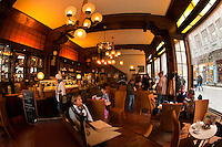 Interior, Riquet Stadtcafe (coffee house), Leipzig, Saxony, Germany
