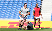 Bismarck Du Plessis during the South Africa Captain's Run training session in preparation for the Rugby World Cup at the American Express Community Stadium, Brighton and Hove, England on 18 September 2015.