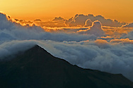 Sunset atop Haleakala crater, Maui, Hawaii