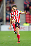 Luke O'Nien (#13) of Sunderland AFC during the EFL Sky Bet League 1 match between Sunderland AFC and Luton Town at the Stadium Of Light, Sunderland, England on 12 January 2019.