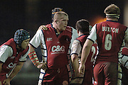 2005/06 Powergen Cup, Bath Rugby vs Gloucester Rugby,  Gloucester forwards'  hold a conference, during a break in the game, at the Rec, on the 03.12.2005.   © Peter Spurrier/Intersport Images - email images@intersport-images..