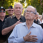 MIAMI, FLORIDA, APRIL 17, 2018<br /> Relatives, friends and members of the 2506 Brigade commemorate  the 57th anniversary of the failed assault on Bay of Pigs  at their memorial in Little Havana by reading names of the ones who died in the operation.<br /> (Photo by Angel Valentin/Freelance)