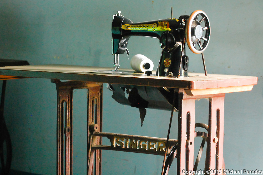 Old sewing machines are ubiquitous in Burma (Myanmar), where in many ways, life today is very much like it was 50 years ago.