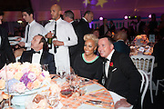 EMILIE SANDE; DAVID FURNISH, Grey Goose Winter Ball to benefit the Elton John Aids Foundation. Battersea Power Station. London. 10 November 2012.