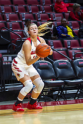NORMAL, IL - October 30: McKenna Sims shoots for three points during a college women's basketball game between the ISU Redbirds and the Lions on October 30 2019 at Redbird Arena in Normal, IL. (Photo by Alan Look)