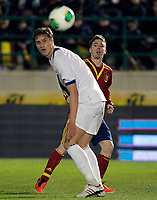 Spain's Iker Muniain (r) and Norway's Rogne during international sub21 match.March 21,2013. (ALTERPHOTOS/Acero)