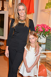 INDIA HICKS and her daughter DOMINO FLINT WOOD at a party to celebrate the publication of India Hicks: Island Style hosted by Princess Marie-Chantal of Greece, Saffron Aldridge and Amanda Brooks has held at Ralph Lauren, 105-109 Fulham Road, London on 28th April 2015,